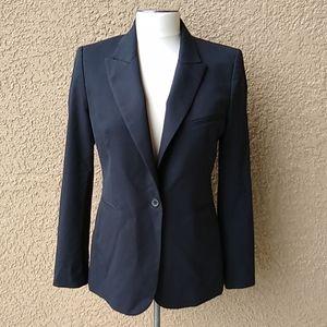 Zara Woman Black Blazer Jacket M Wool Blend